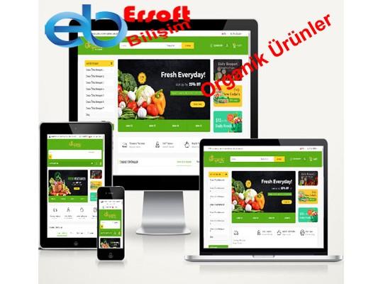 Organik Ürünler E-Ticaret Paketi